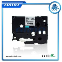 good quality strong black on white label tape compatible for Brother P-touch TZe-S261
