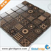 Cheapest For Building Crystal Mosaic Tile 25X25 8INKCd503