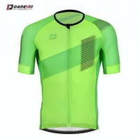 Professional OEM 100 Polyester Lime Green Cycling Jersey/Green Bike Jersey