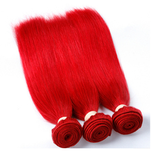 3 bundles red brazilian hair weave silky straight shedding free tangle free virgin human hair weft