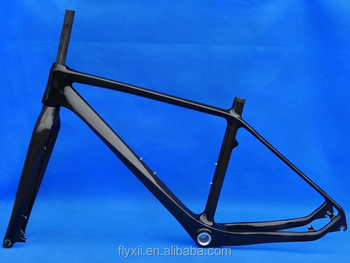 FLX-FR-223 : Carbon Glossy Cycling 26er Mountain Bike Frame MTB Fork - 18""