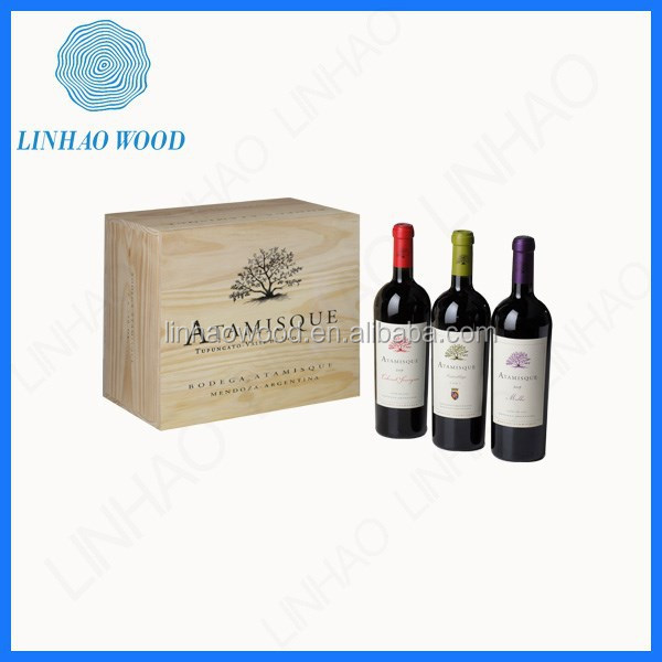 China factory supply cheap wooden wine crates/wooden essential oil box
