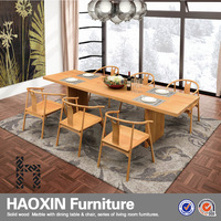 Cheap dining table and 6 chairs wooden dining table and chairs European style for sale with factory price