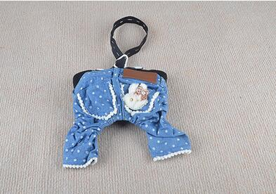 Dog Cat Dress Shirt Jumpsuit Demin&Starfish Skirt Pet Puppy Vest Pants Summer Clothes