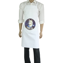 China manufacturer white cotton kitchen apron with two pockets