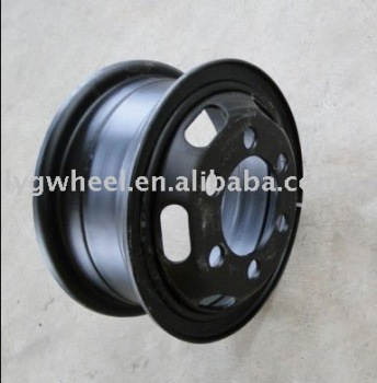 Lantian Auto Wheel 6.00-16 Black Tube Steel Wheel