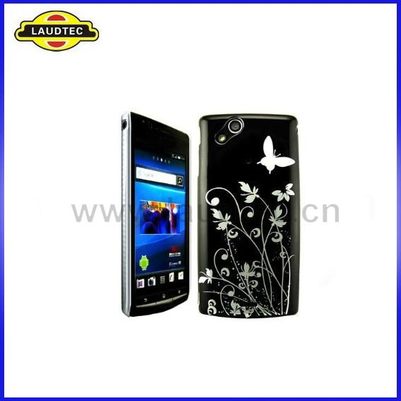 Hard Case for Sony Ericsson Xperia Arc X12, IMD Butterfly&Flower Design Cover
