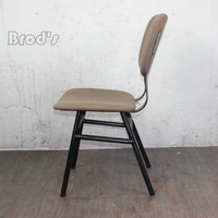 Wholesale cheap metal industrial retro cafe metal dining chair