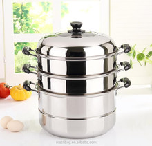 High efficiency stainless steel double bottom steamer