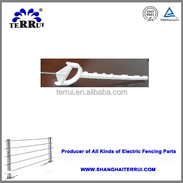 Plastic electric fence post