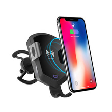 Wireless universal Car mobile <strong>phone</strong> Mount <strong>Holder</strong> and Charger 10W Qi Fast Charging Smart Car Mount Cell <strong>Phone</strong> <strong>Holder</strong>