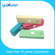 School Use PP plastic pencil case with elastic band