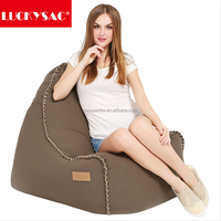 Padded lounger chairs , triangle lounger bean bag Indoor Furniture