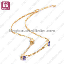 new design 2014 fashion jewelry set rhinestone evening necklace set costume jewelry 2014 lucky stone necklaces