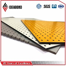 ACP outdoor building material weather proof aluminum composite panel with perforated
