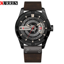 CURREN 8301 Date Men Watch New Top Luxury Brand Sport Military Army Business Male Clock Leather Quartz Mens Watches