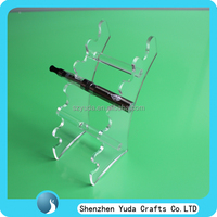 Free shipping pop acrylic e-cigarette display stand/ plexi ecigs display rack in high quality wholesale