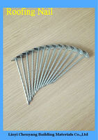 Iron Material Roofing Nail Type And Zinc Roofing Nails With Screw Shank