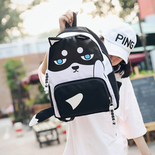 2018 new design women bag cute Huskies style canvas made boy and girls backpack