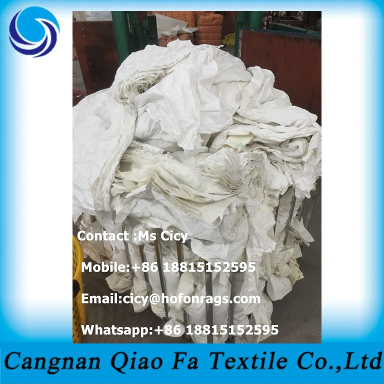 Machine Cutted Wiping Rag Second Hand White T Shirt Cleaning Rags ...