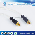 Lovely Silver Metal Head Transparent PVC Jacket Toslink Digital Optical Cable