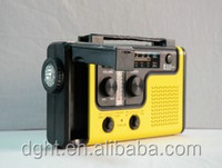 Camping CE/RoHs/FCC Approved Mobile Charge Dynamo radio Solar