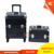 2 in 1 Professional Rolling makeup Case with 360 degree wheels