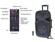 12 inch portable active PA speaker systerm with radio