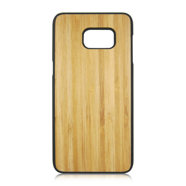 Plastic wood phone shell real wood phone case cheap back covers for Samsung S6 Edge Plus