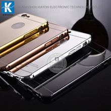 [kayoh] aluminum metal bumper mirror case for samsung galaxy S7 phone cover