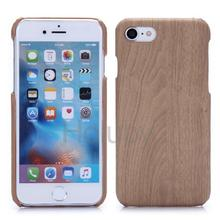 Khaki wood grain style hard PC phone case for iPhone 7, case for apple iPhone 7 cover