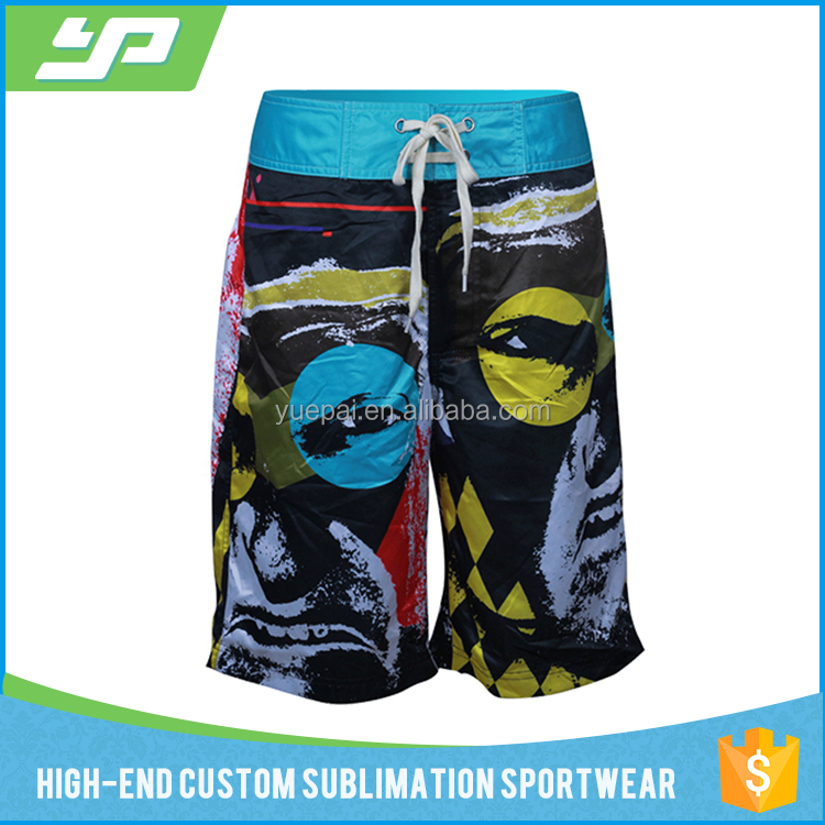 custom design your own 4 way stretch sublimation surf mens board shorts manufacturer