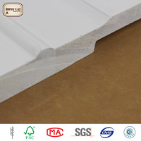 Custom White Prime Decorative Radiata Pine Concrete Wood Flooring Wall Panel Moulding Engineered