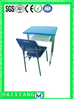 modern cheap plastic school desk and chair HXZY038