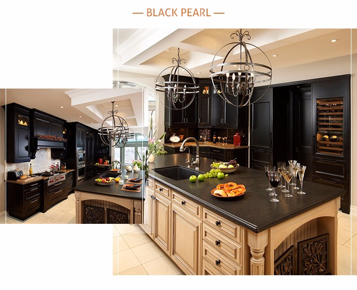 Superior Design Different Edges Black Galaxy Granite Kitchen Countertop