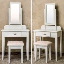 White Dressing Dresser Bedroom Vanity Table With Lighted Mirror