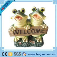 Welcomed Frog Figure for garden decoration, Resin Cartoon Garden Frog Figurine ,Wholesale welcome frog statues