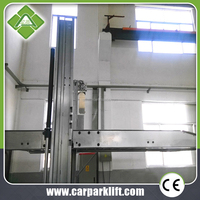 2 post smart auto parking system/Hydraulic double level parking equipment/Two post car parking lift