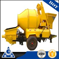 Electric Mortar Cement Concrete Pumping Machine With Mixer