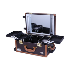 2018 Hot Sale Good Quality PVC Portable Makeup Case Station With Lighted Mirror