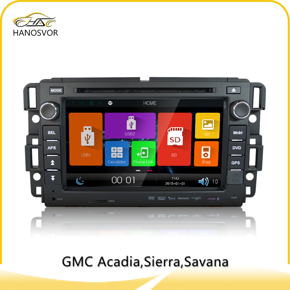2 Din Car DVD Touch Screen GPS For GMC Sierra With Rear-view Camera