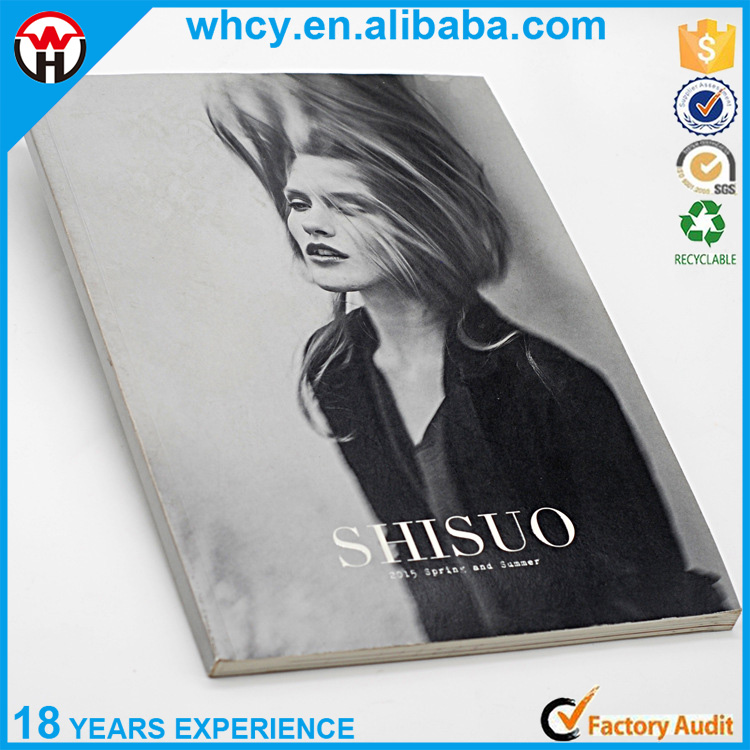 High quality custom design softcover magazine with full color printing