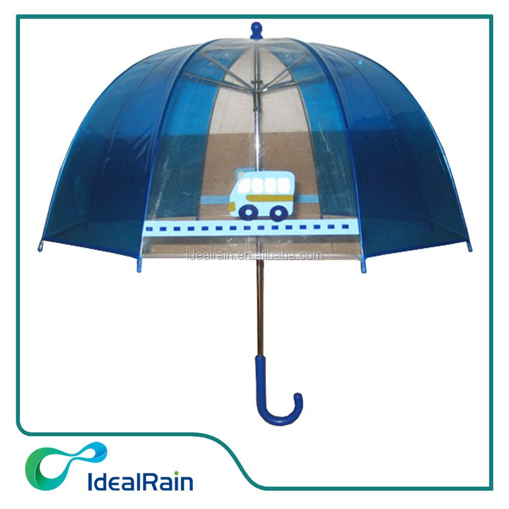 safety auto open kids transparent umbrella