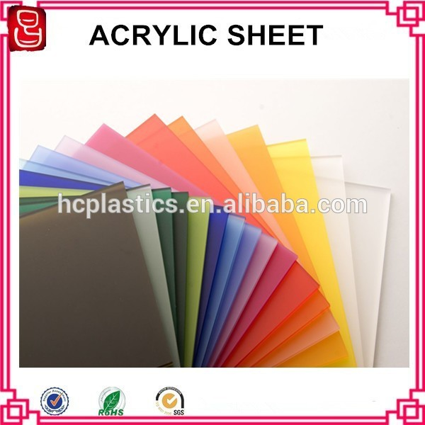 clear/color acrylic material cheap hard plastic sheet