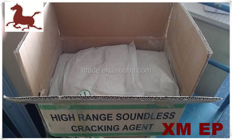Soundless cracking agent for marble and granite quarry work