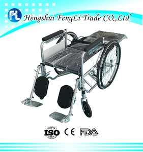 popular aluminum light weight folding manual wheel chair with low price hospital wheel chair