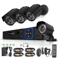 Home Security CCTV system H.264 4ch Full Outdoor Waterproof Camera DVR Kit 4ch dvr combo cctv camera kit