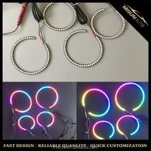 Promotion halo ring angel eyes 12V rgb color changing for 2006-2010 Charger