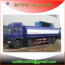 In stock!! Famous brand dongfeng EQ5311 260hp 8*4 27000liter fuel truck with large oil tank truck demension sale in dubai