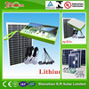 12v 10w portable mini home solar system ,solar led lighting system kit with lithium-ion battery
